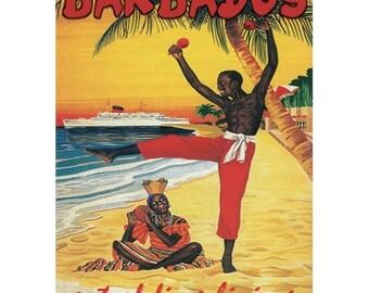 Retro Kühlschrank Yoga : Barbados travel etsy