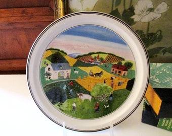 Villeroy & Boch The Four Seasons Plate, Summer No 2 Villeroy and Boch Wall Plate, Folk Art Decor, Gerard Laplau Naif Plate