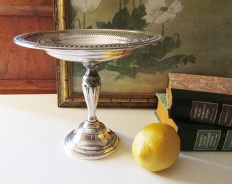 Vintage Compote, Silver Plated Candy Dish, Pedestal Dish, Tea Party Decor, Wedding Silver, Pedestal Stand, Tea Party Decor