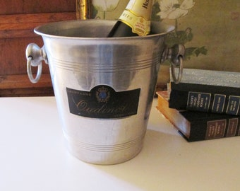French Champagne Bucket, Oudinot, France, Wine Cooler, Alfresco Dining