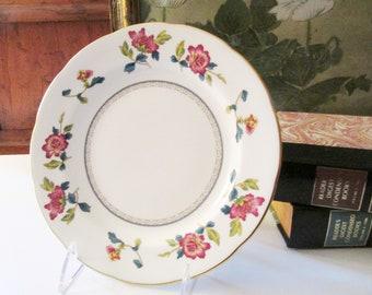 Wedgwood Chinese Flowers Salad Plate, Chinoiserie, Bone China, Colonial Williamsburg Foundation, Elegant Dining