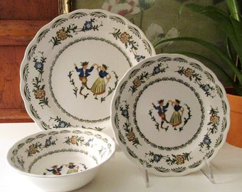 Vintage Provincial Designs by Nikko Dinnerware, French Country Style, Dinner Plate, Salad Plate, And Cereal Bowl