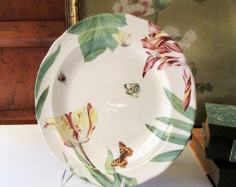 Vintage Spode Floral Haven Dinner Plate, Tulips and Butterflies Plates, Garden Party Plates, Alfresco Dining
