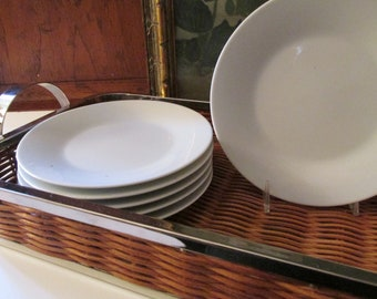 "Eight Vintage Noritake ""Snowville"" Plates, Small Plates, Bread and Butter Plates, Modernist 1960's Appetizer Plates"