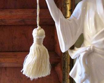 Houlès France Key Tassel, Small Ivory Tassel, French Chic, Fantasque Collection Tassel, Paris Key Tassel