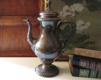 Vintage St. James International Silver Coffeepot, Tarnish Silver Plated Coffee Pot, Hollywood Regency, Tea Service