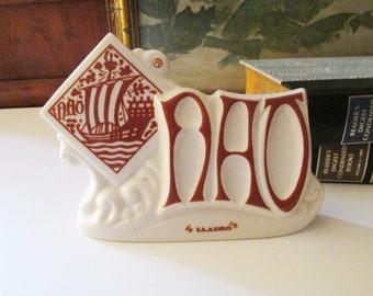Vintage Lladro Dealer Display Sign, Nao, Boat Logo, Spain, Nao Lladro Porcelain Sign