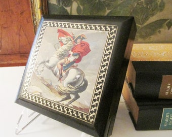 Sweden Coaster Set Design Philipp, Hollywood Regency Bar Decor, Leather Napoleon Bonaparte Box, Retro Cork Coasters