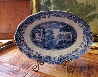 Vintage Spode Italian Blue Trinket Dish, Blue Transferware Dish, English Country Decor, The Gilded Tassel