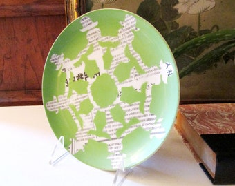 Sigma Taste Setter Chinoiserie Plate, Canape Cut-Ups, Palm Beach Chic, Silhouette Plate, Wall Decor, Rare Collectible Plate