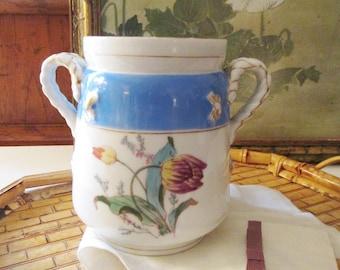 Vintage Limoges Sugar Bowl, Ironstone Vessel, Romantic Cottage, French Porcelain, Haviland Limoges