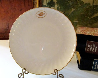 1967 United Airlines Canape Plate, Vintage Porcelain Airline Plate, Debonair by Syracuse China