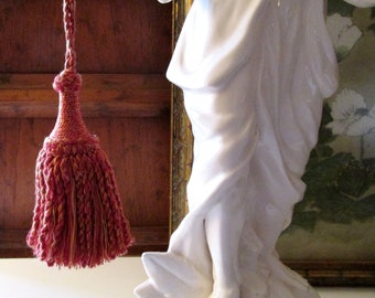 Houles Paris Spicy Pumpkin Key Tassel, Vintage Provence Tassel, Cotton and Wool French Tassel