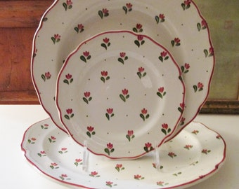 "Vintage England Johnson Brothers ""Bonjour"" Dinnerware, Salad Plate, Platter, Dinner Plate, Sold Separately, Country Bistro Decor"