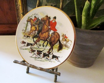 Broadhurst Bros. England Fox Hunting Coaster, English Country Decor, Horses and Hounds, Equestrian Lover