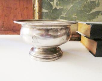 Rare Vintage Grosvenor House Hotel Silver Bowl, James Deakin & Sons Sheffield Hard Soldered Ice Cream Bowl, 1930's