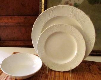 Vintage England Johnson Brothers Dinnerware, Richmond, Embossed Ironstone China