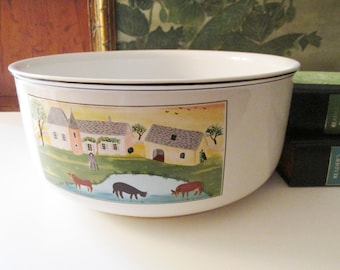 Vintage Design Naif Large Serving Dish, Casserole Dish by Villeroy & Boch, Country Farmhouse Chic Dinnerware, Oven to Tableware