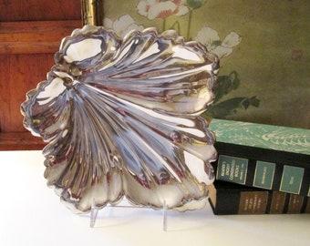 Fisher Silversmiths Leaf Tray, Decorative Autumn Leaf Dish, Silver Plated Tray, Vintage Leaf Tray, Coffee Table Decor