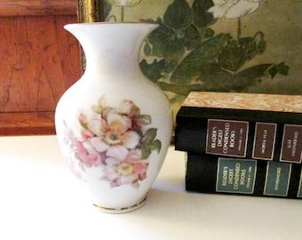 Schumann Germany Vase, Wild Rose Porcelain Vase, Cottage Chic, Romantic Decor, Flower Vase, Gift for Her