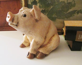 1989 Geo Z Lefton China Piggy Bank, Hand Painted Lefton China, Porcelain Ceramic Bank