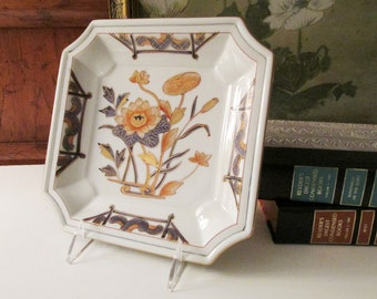 Vintage Oriental Valet Tray, Hollywood Regency Chinoiserie Porcelain Dish, Coffee Table Decor, Decorative Tray, Chinoiserie Chic