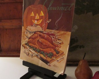 1947 Gourmet Magazine, Vintage Fall Halloween Edition, Jack-'O-Lantern