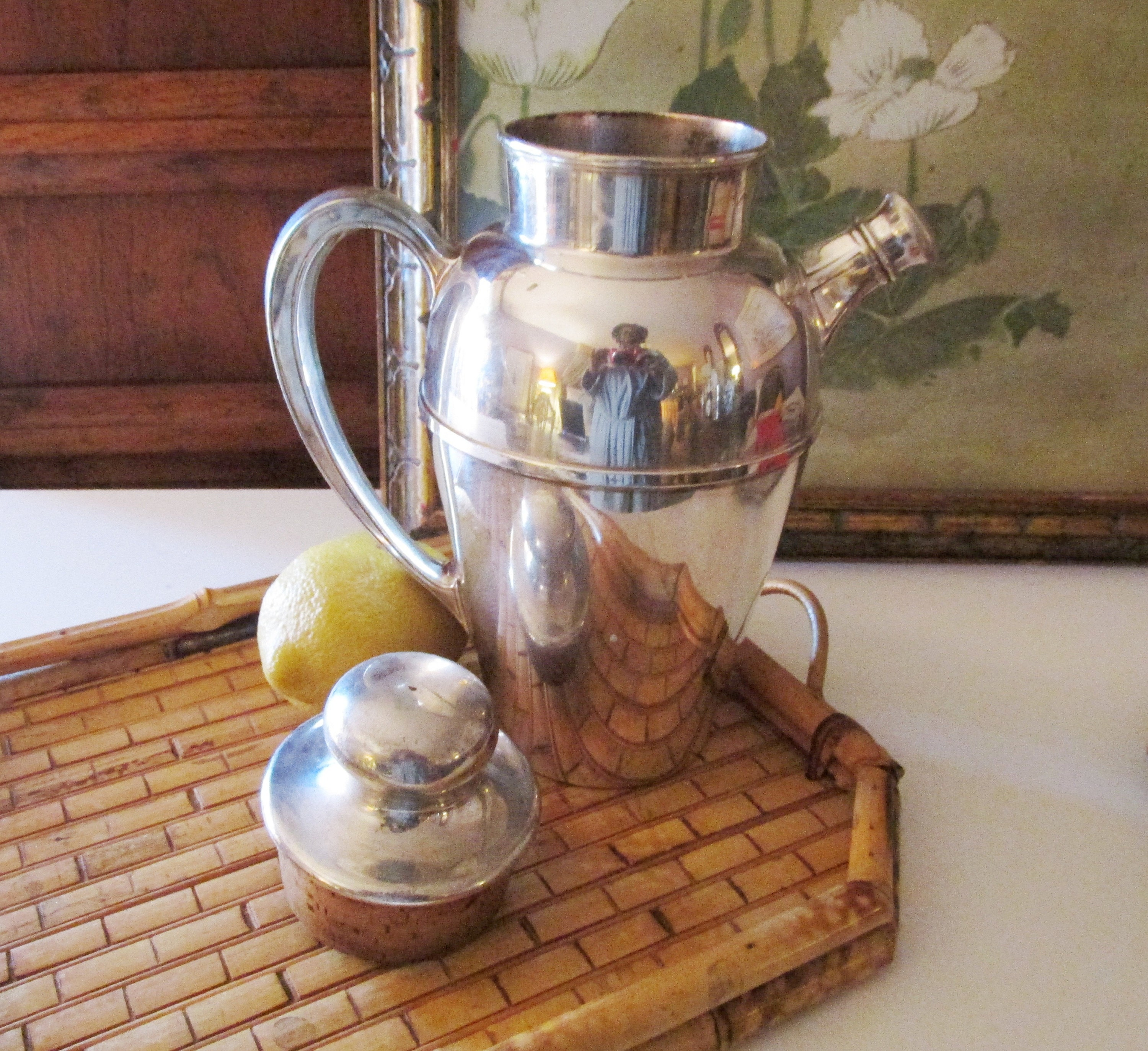 Vintage Pairpoint Silver Company Cocktail Shaker Silver Plated Bar Ware Bar Cart Decor 1930 S Barware