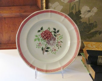Vintage Adam England Calyx Ware Plate, Hand Painted Floral Plate, English Cottage Decor, Wall Gallery Plate, Romantic China