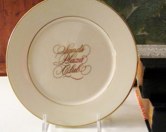 Lenox Sands Hotel Plate, Collectible Souvenir Plate, Casino of Atlantic City, Bread and Butter Plate