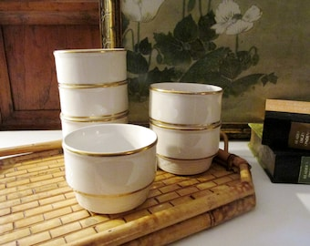 Vintage Six Restaurant China, Pudding Cups, Sterling China, Medallion, Nut and Fruit Cups, Bistro Kitchen, French Chic