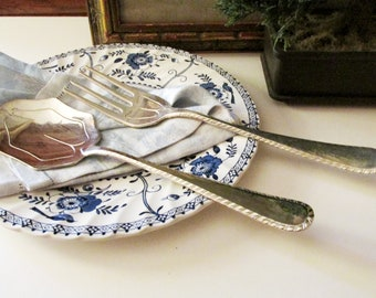 Vintage Silver Plated Serving Set, Italian Silver, F.B. Rogers Dessert Set,