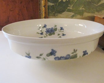 Chinoiserie Blue and White Bowl,  Blue and White Bowl, Gallo Leonardo Marie-Claire , Vintage Gift, Centerpiece Bowl, Serving Bowl