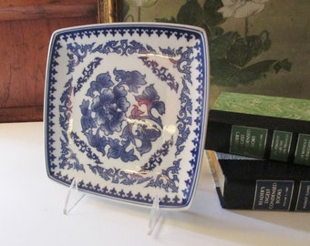 Chinoiserie Blue and White Letter Tray, Paris Apartment, Bombay Co., Palm Beach Decor, Valet, Home Office Decor