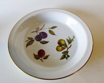Royal Worcester Pie Plate, Evesham, England, Holiday Table Decor, Fruits, Thanksgiving, Christmas Bakeware