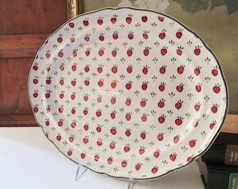 "Vintage Johnson Bros. ""Bordeaux"" Platter, Ironstone Platter, Farmhouse English Kitchen Decor"