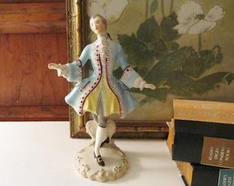 1950's Goldcrest Creation Minuet by P. Procher Figurine, French Style Dance, Grandmillennial Style, Fleur de Lis, Vintage Ceramic Art