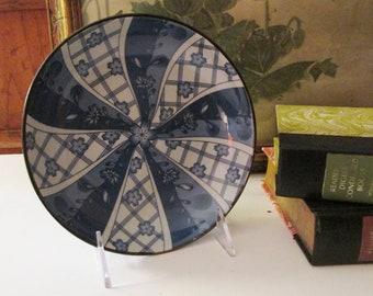 Vintage Asian Imari Blue and White Bowl, Trinket Dish, Pin Dish, Chinoiserie Chic