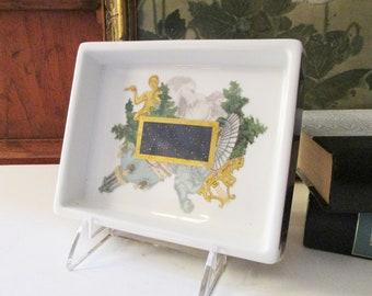 Vintage Limoges Bernardaud Tray, Metropoles, Celestial French Desk Tray, Art Deco, Hollywood Regency