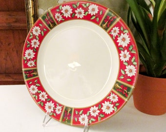 Vintage Charlton Hall by Kobe Dinner Plate, Chinoiserie Imari Style Christmas China, Classic Traditions, New Old Stock,1980's