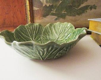 Bordallo Pinheiro Green Lettuce Leaf Bowl