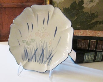 Vintage Chinoiserie Decorative Dish, Palm Beach Decor, Pastel Orchid Tray, Coffee Table Decor