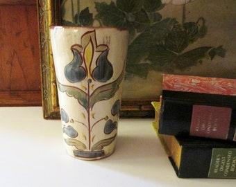 Weldon Pottery Sentiment Cup, Clay Pottery, Vintage Friendship Gift, Dutch Style Pottery