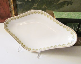 Vintage Limoges Dish, Bon Bon Dish, Haviland French Porcelain Tray, Catchall, Jewelry Dish, GOA France