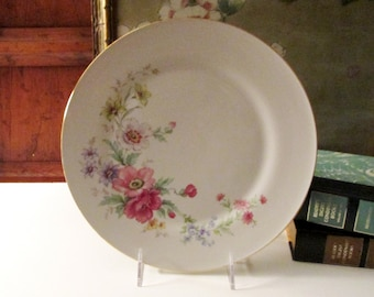 "Vintage Bavaria ""Spring Bouquet"" Dinner Plate, Tirschenreuth Germany, Floral Garden Dinner Plate"