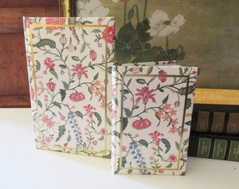 """Vintage """"Embroidered Silk"""" Personal Journal and Travel Diary, Vintage Gift, C.R. Gibson Co. For Colonial Williamsburg"""