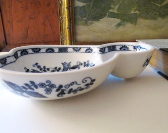 Vienna Woods Candy Dish, Vintage Blue Danube, Blue Onion, Blue and White, Chinoiserie China, Double Gourd Plate, Catchall Dish