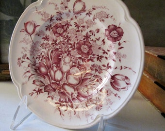 Windsor Ware Dover Mulberry Plate, Johnson Bros Ironstone Dinner Plate,  English Country Decor, Romantic Decor