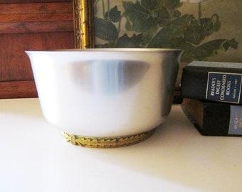 Kensington Aluminum Bowl, Mid Century, Art Moderne Fruit Bowl, Centerpiece Bowl, Lurelle Guild, Laurel Leaf Design
