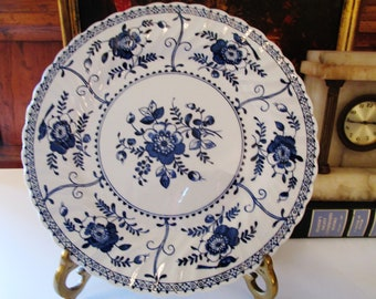 Indies Johnson Bros Plate, Blue and White Plate, Ironstone Chinoiserie Plate, English Country Decor, Cottage Chic, Sold Separately